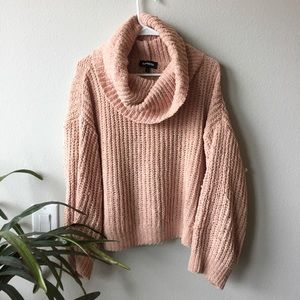 EXPRESS // Chenille Cowl Sweater
